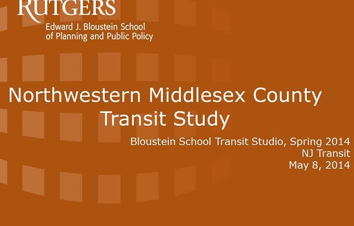 Northwestern Middlesex County Transit Study